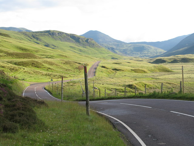 A93 north of Spittal of Glenshee
