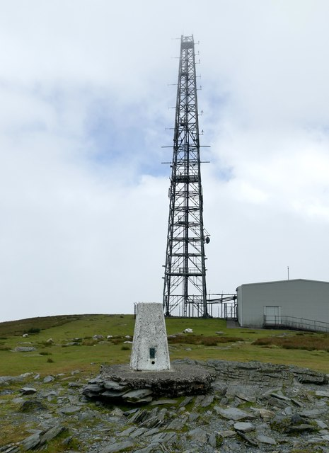 Trig point on Snaefell summit