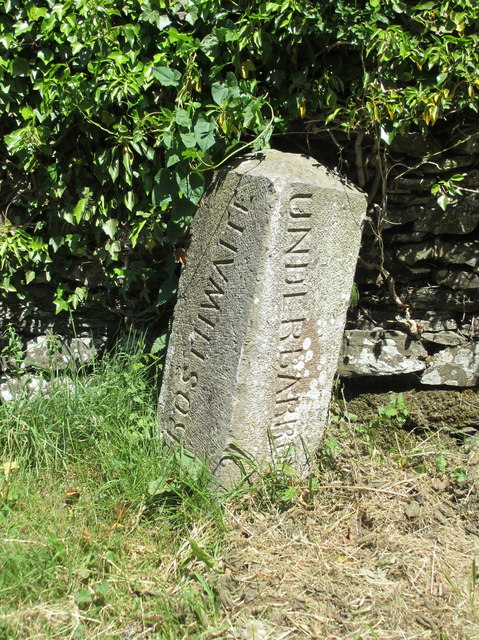 Crosthwaite/Underbarrow boundary stone near Town Yeat