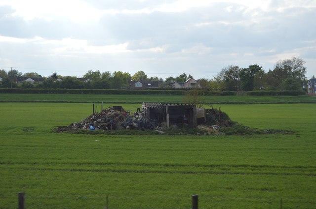 Ruin in a field