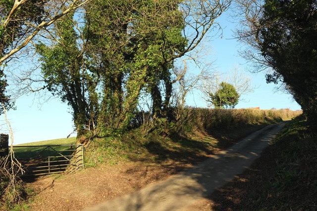 Lane to Helsbury Castle