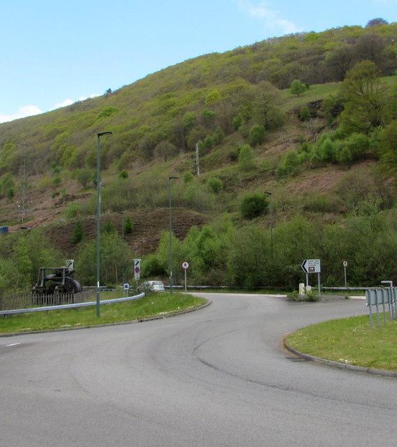 Wooded hillside above Cwm, Blaenau Gwent