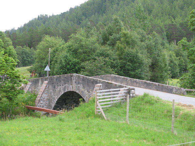 Road Bridge over the Ey Burn in Inverey
