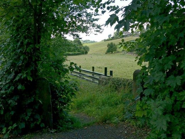 Gateway to the fields, Bridge foot, Belper