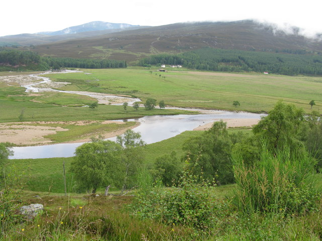 Confluence of the River Dee and the Quoich Water