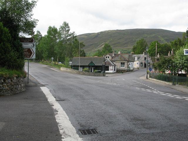 Road Junction in Braemar