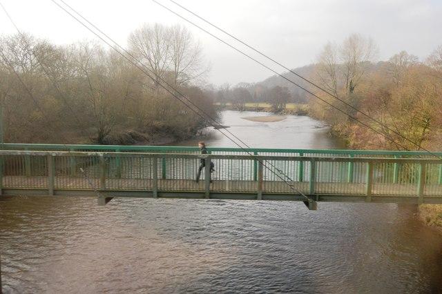 Footbridge over the River Dart