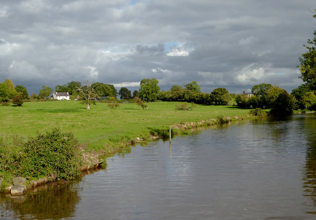 Canal and pasture near Lower Frankton, Shropshire