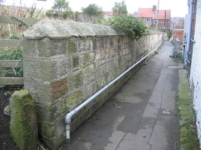 Boundary marker by Aelfleda Terrace