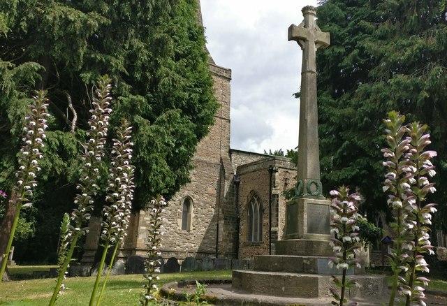 War memorial and St Andrews church