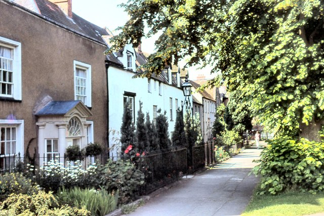 Houses bordering Cathedral Green