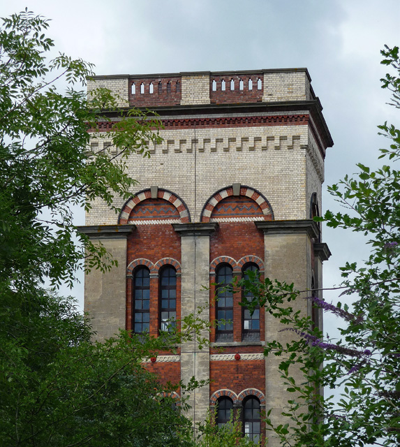Detail of former storage tower, Broomy Hill, Hereford