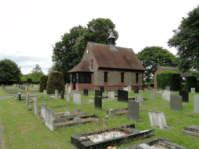 The chapel in Burwell cemetery