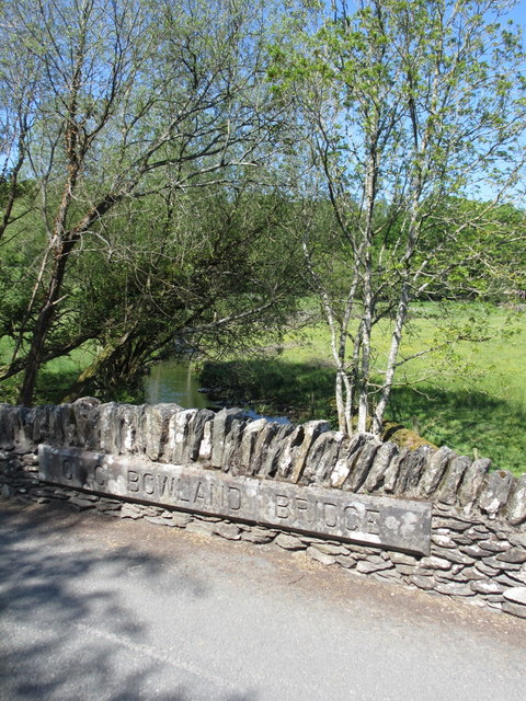 Bowland Bridge name stones
