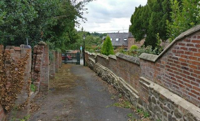 Path near the Church of St Mary