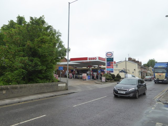 Esso filling station, The Nursery, Devizes