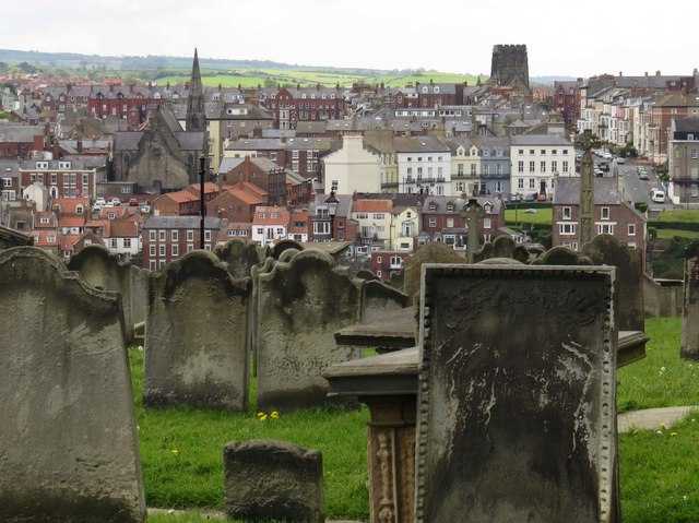 St Mary's churchyard in Whitby