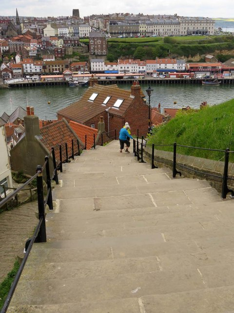 199 Steps back down into Whitby