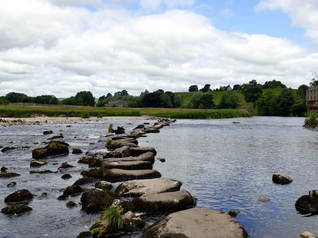 Stepping stones over the River Wharfe