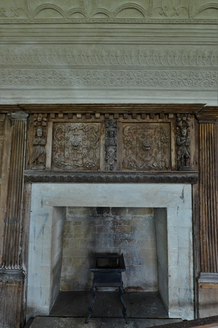 Chastleton House: The Long Gallery fireplace