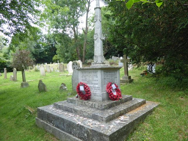 The war memorial, Shorne Churchyard