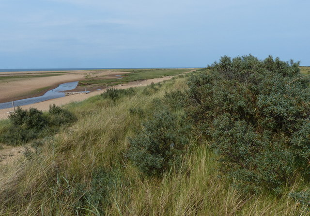 Sand dunes next to Hunstanton Golf Club