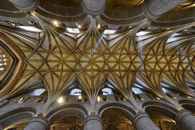Tewkesbury Abbey: The magnificent lierne vaulted roof