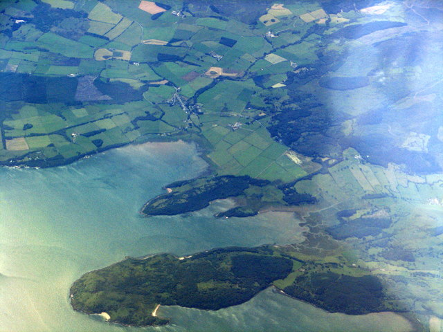 Almorness, from above the Nith Estuary