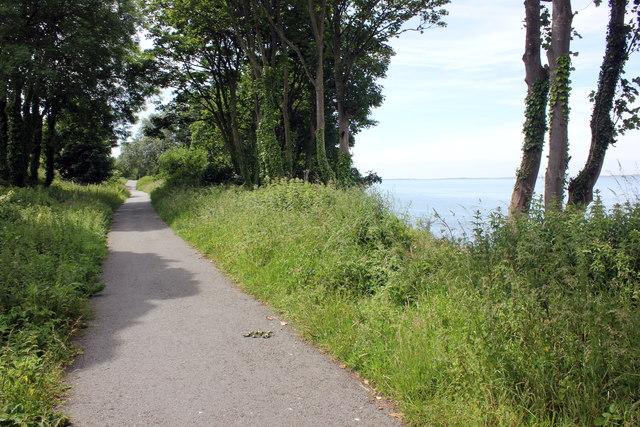 The Wales Coast Path approaching Caernarfon