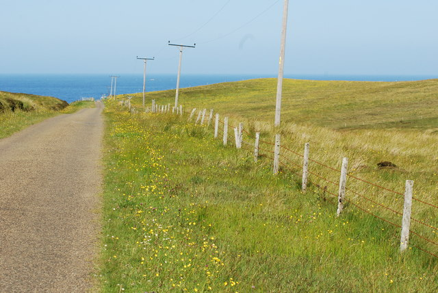 Road leading to Murra on Hoy