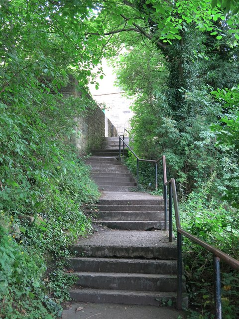 Stepped path between Haugh Lane and Gilesgate
