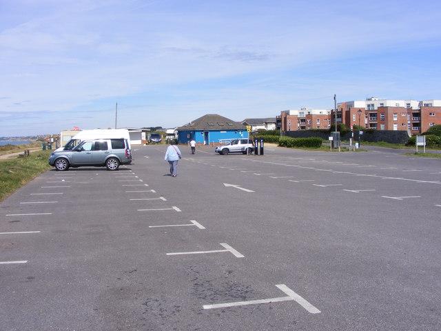 Beach Car Park Scene