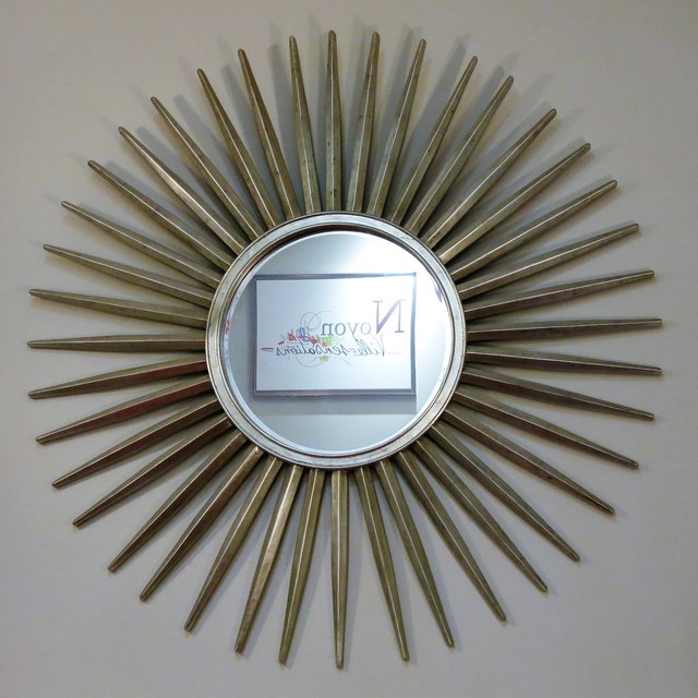 "Art Deco ""sunburst"" mirror in the Forum Cinema"
