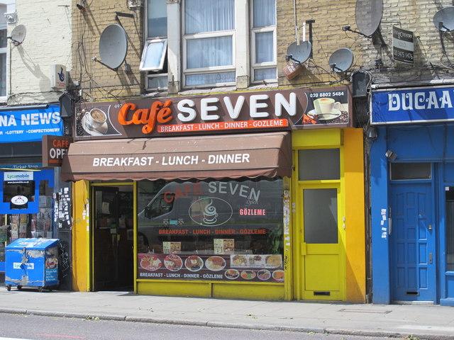 Café SEVEN, Seven Sisters Road, N15
