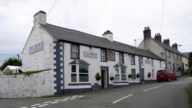 Y Goron pub, Aberffraw
