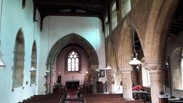 Interior of Holy Trinity, Shenington