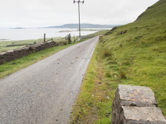 Coastal road on Mull