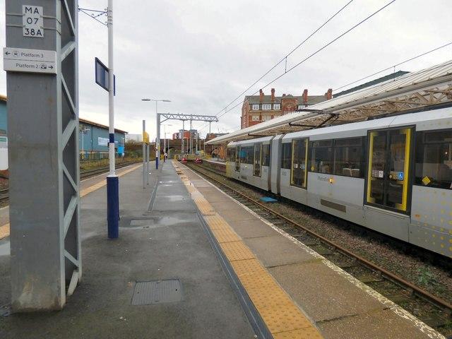 Altrincham Station platform 2