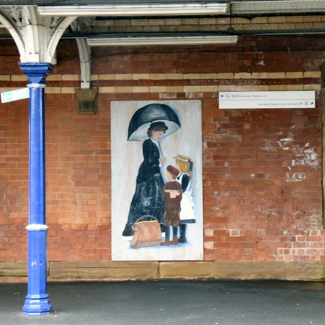 Poster at Altrincham Station