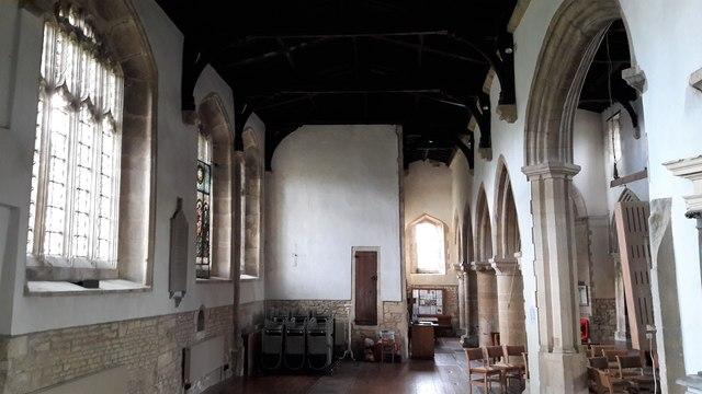 South aisle of St Kenelm's church, Enstone, interior