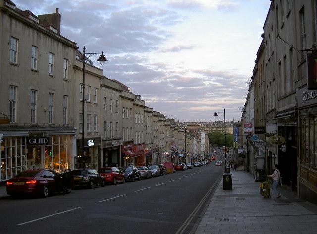 Park Street as dusk falls