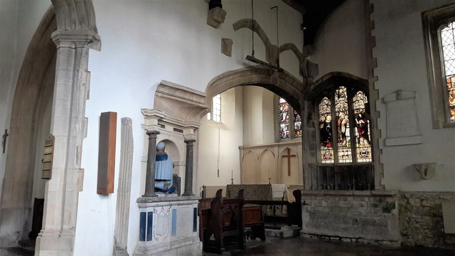 East end of the south aisle in St Kenelm, Enstone