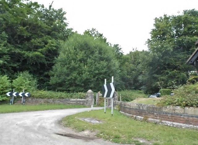 The entrance to Gaddesden Place, Briden's Camp