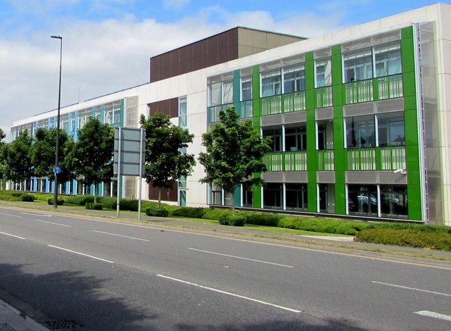Green and blue, Badminton Road, Yate