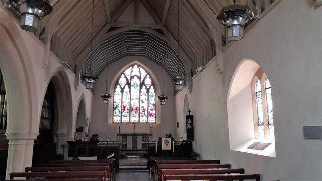 Inside St John the Evangelist's church, Little Tew