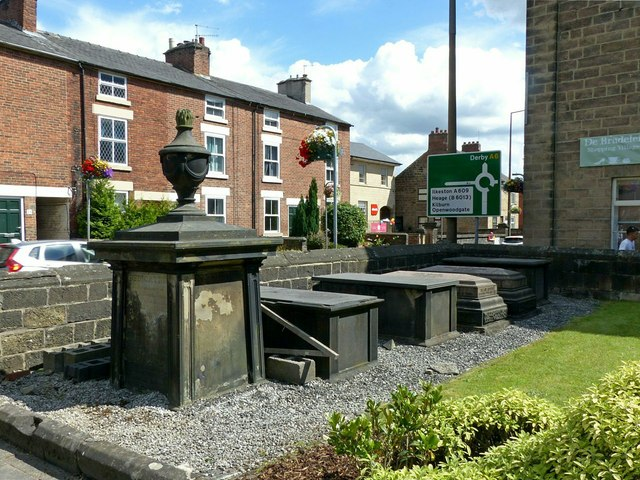 Monuments in the churchyard, Central Methodist Church, Belper