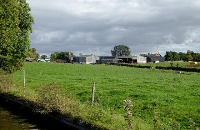 Farm land east of Lower Frankton in Shropshire