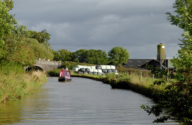 Llangollen Canal east of Lower Frankton in Shropshire