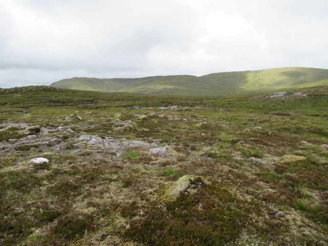 Head of Allt Feith a' Mhoraire tributaries east of Gairbeinn above Speyside