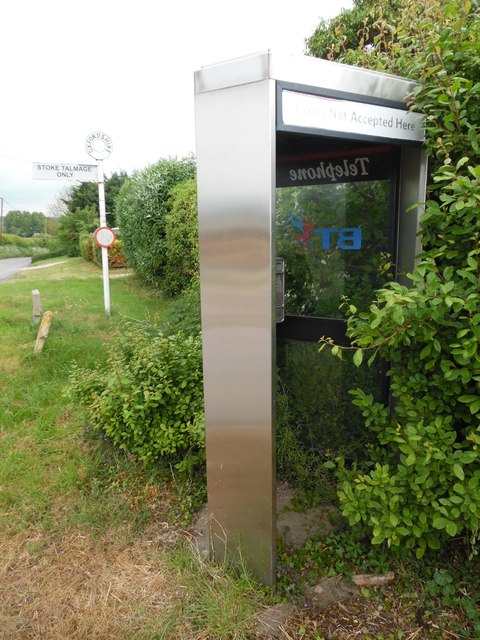 KX300 Telephone Kiosk and Sign Post, Stoke Talmage